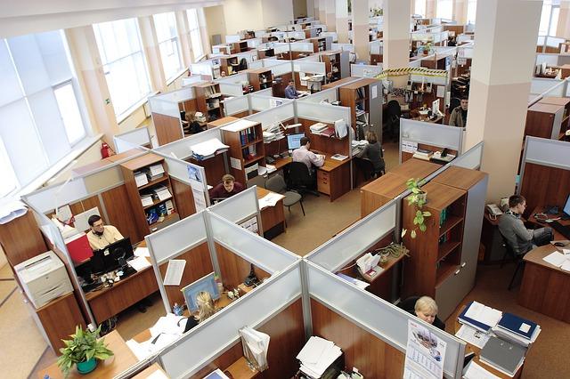 otevřené pracovní prostory