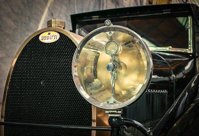 staré auto reflektor